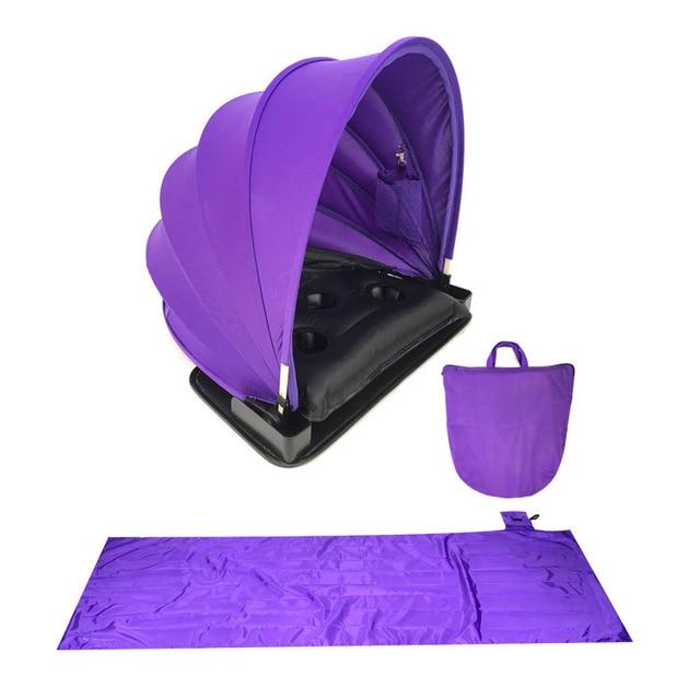 Portable Sunshade Sun protection Personal tent foldable Sun shade Mini beach umbrella parasol with Pillow+ beach mat +Carry Bag 1