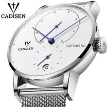 2019 CADISEN Luxury Fashion Brand Men Watch Automatic Mechanical Watch Male Steel Business Waterproof Sport Relogio Masculino