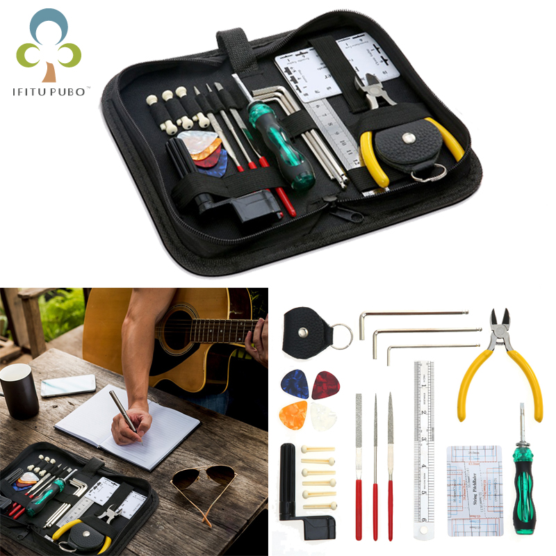 buy guitar repairing tool maintenance cleaning tool kit string organizer action. Black Bedroom Furniture Sets. Home Design Ideas