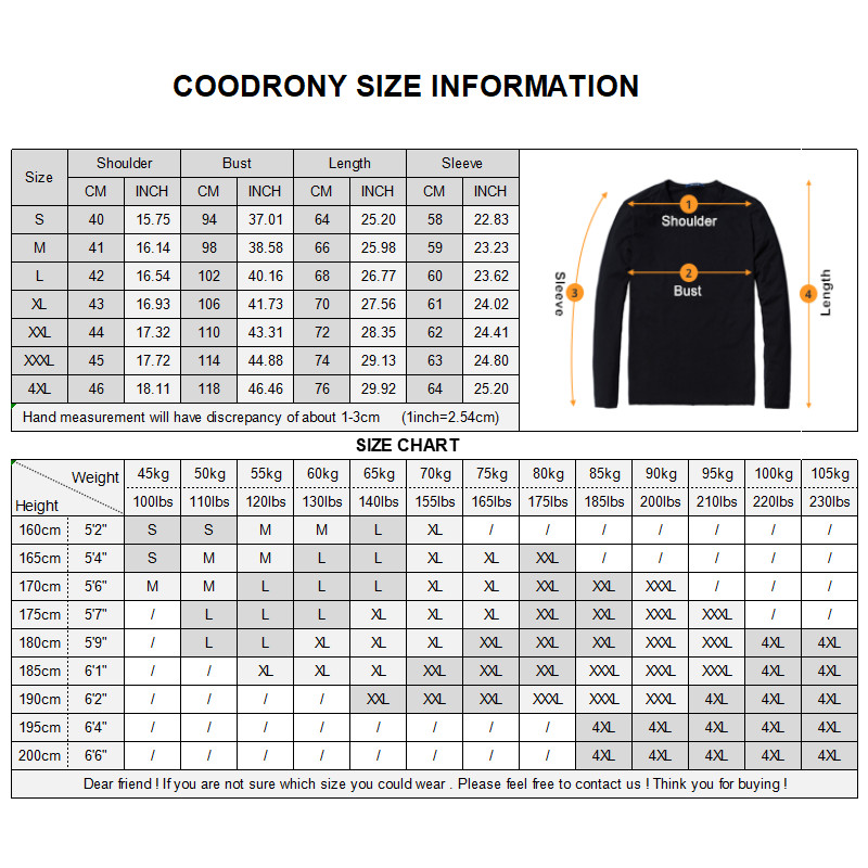 Image 5 - COODRONY Brand Sweater Men Classic Casual Turn down Collar Pull  Homme Cotton Wool Pullover Men Autumn Winter Soft Sweaters  91084Pullovers