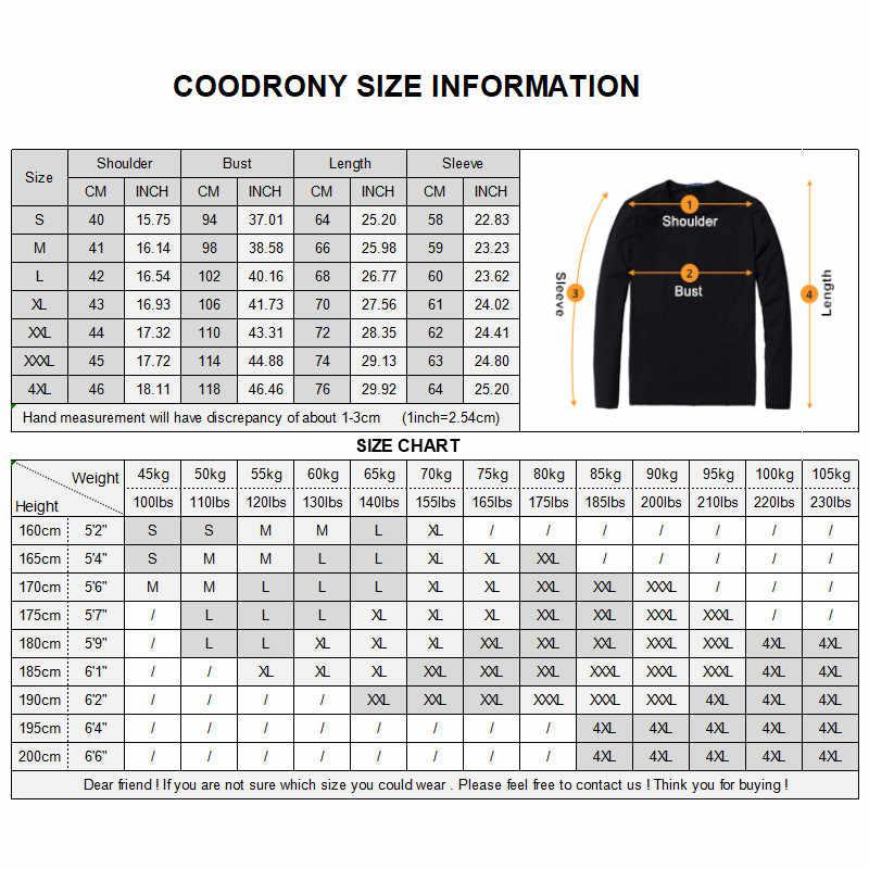 Coodrony 브랜드 스웨터 남자 패션 스트라이프 풀 오버 남자 가을 겨울 니트 셔츠 당겨 옴므 부드러운 코 튼 양모 스웨터 91043