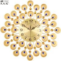Creative Europe fashion peacock wall clocks digital wall clock digital wall clock 3D large wall watches cuckoo clock