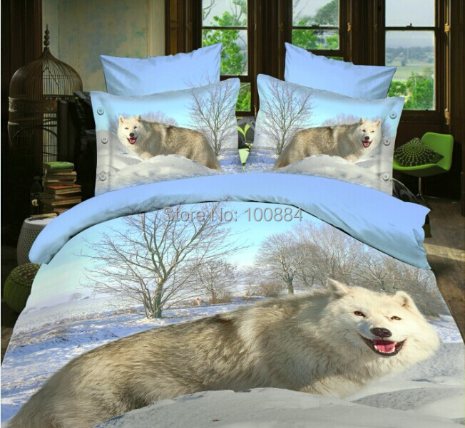Popular Wolf Bedding Sets-Buy Cheap Wolf Bedding Sets lots