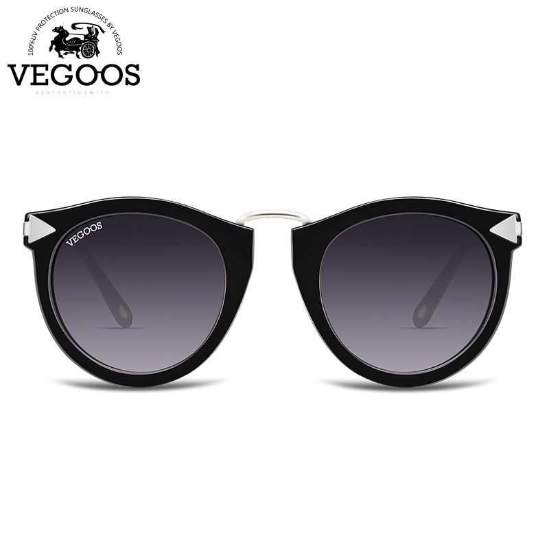 e5d0577ced VEGOOS Vintage Fashion Round Arrow Style Polarized Sunglasses for Women  Mirrored Lenses UV400 Protection Ladies Shades
