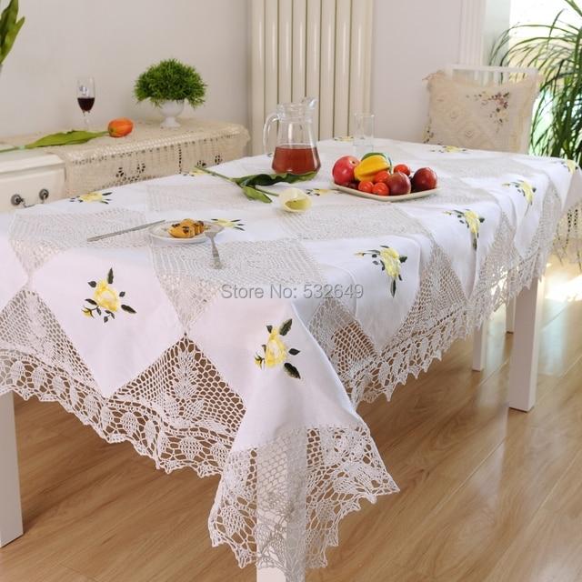 Hetaiyiyuan handmade crochet continental toalhas de mesa toalha de mesa toalha de mesa toalha de - Manteles mesas grandes ...