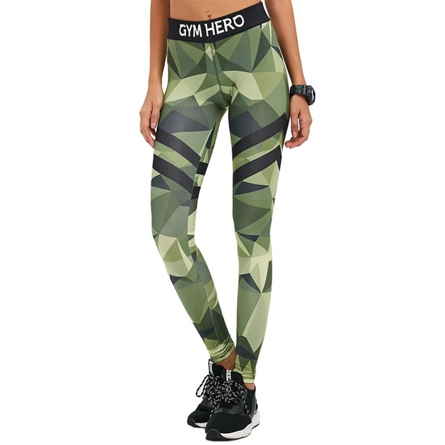 7e73951571985 S-QVSIA 2016 Autumn New Style Women Skinny Fitness Leggings Letter Print  Fashion Camouflage Pants