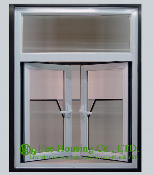 Anodized Aluminum Casement Windows With White Color
