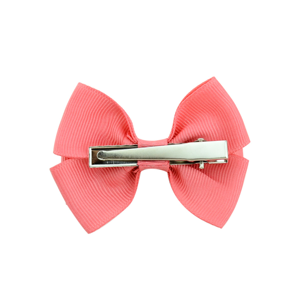 20Pcs lot 20 Color High quality Lovely Girls Bow Tie Hair Clip Solid Grosgrain Ribbon Bow knot Hairpins Hairgrips Accessories529 in Hair Accessories from Mother Kids