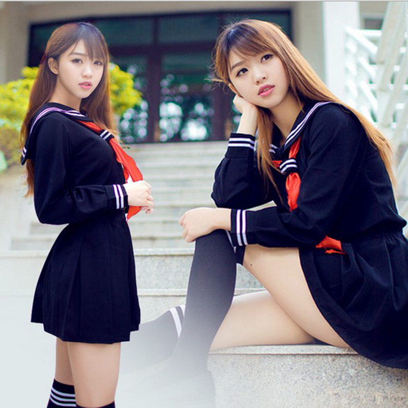 Sailor Suit Sailor FuKu JK Uniform Japanese School Uniform Cosplay Costumes