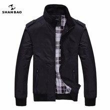 Men's casual black jacket simple British style plaid lining new fall 2016 men's business brochure designer aviator jacket 1235