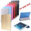 Горячая продажа Для iPad Air2 Retina Smart Case Cover, ультра Тонкий Дизайн Tablet PU Кожаный Чехол Для Apple ipad6 air 2 Case