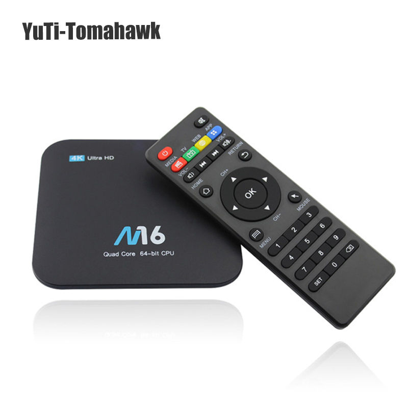 лучшая цена M16 Android 7.1 Amlogic S905X KODI 17.4 Android Smart TV BOX 1GB+8GB / 2GB+8GB / 2GB+16GB 4K WIFI LAN VP9 H.265 HDMI 2.0 MINI PC
