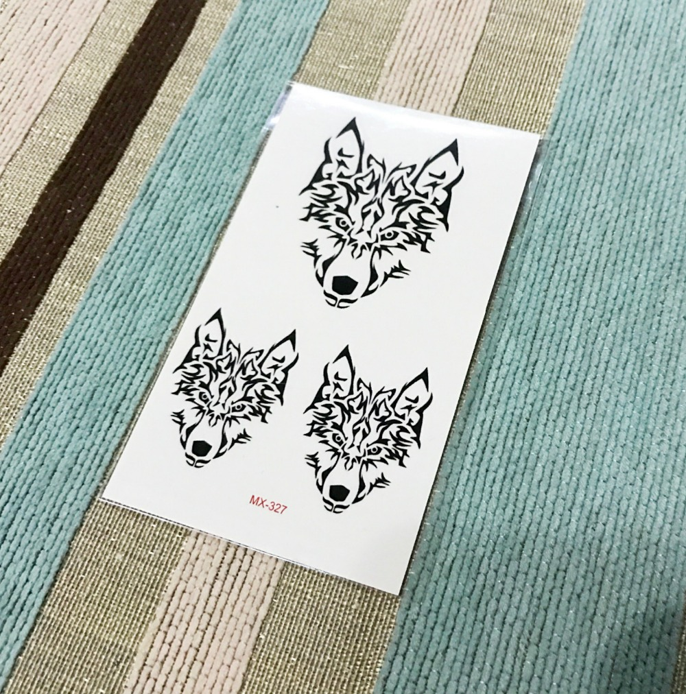 New Waterproof Temporary Tattoo sticker cool wolf Water Transfer fake tattoo flash tattoo for girl boy free shipping