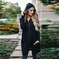 Женщины Молнии С Длинным Рукавом Пальто Куртки И Пиджаки С Капюшоном Пальто