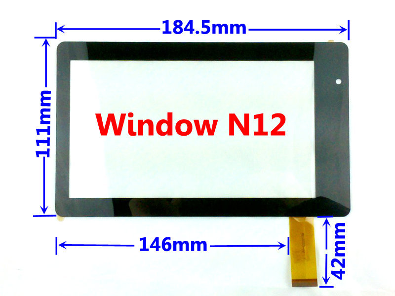 7 7Inch Capacitive Touch Screen Digitizer Glass Replacement for Window Tablet PC N12 Free Shipping