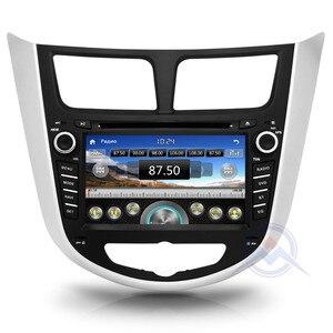 Image 3 - Автомобильный DVD плеер, 2 din, мультимедийный плеер для Hyundai Solaris, accent, Verna, i25, Авторадио, GPS навигация, стерео радио, BT, ipod, USB порт, карта