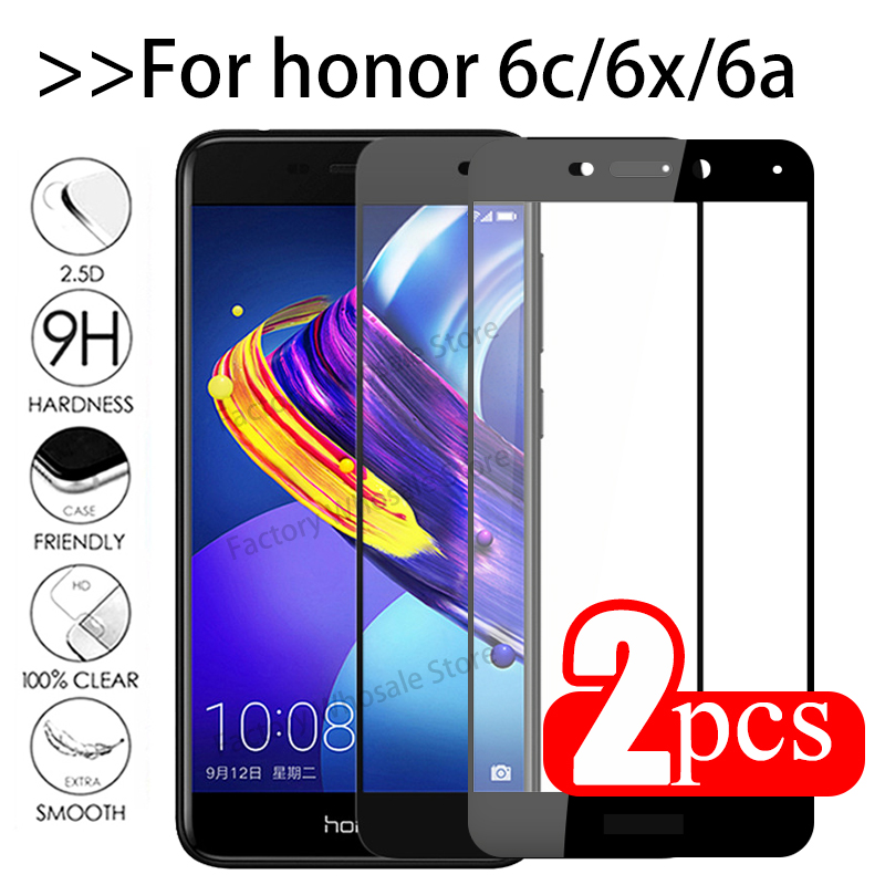 2pcs Protective Glass For Huawei Honor 6c Pro Tempered Glas Screen Protector On Honor 6a 6x 6 C X A C6 X6 A6 Honor6c Cover Film