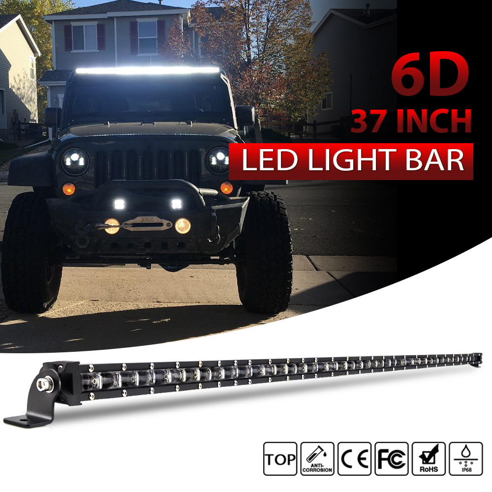 CO LIGHT 6D Super Slim Led Light 4x4 Offroad Bar Single Row 37inch 180W for SUV