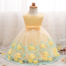 b85b96ff498 Summer Baby Dress Girl Flower Wedding Gown 1 Year Birthday Party Dress Kids  Vestidos 3 6 9 10 12 18 24 Months Baptism Clothes
