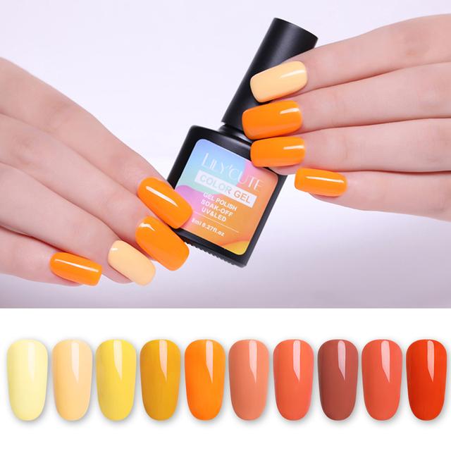 LILYCUTE 8ml 90 Colors Macaron Nail Gel