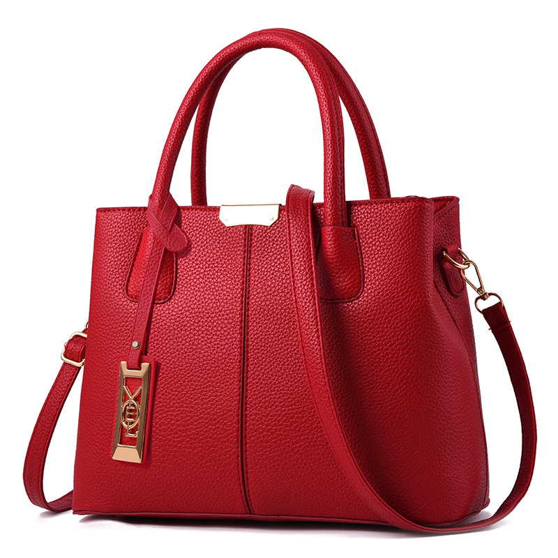 【】Women PU Leather Hand bags Ladies Large Tote Bag Female ...