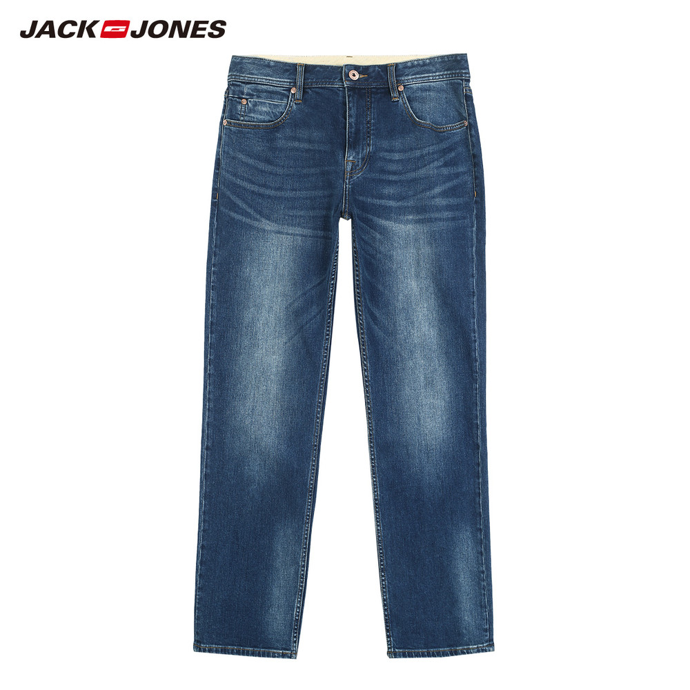 JackJones мужские эластичные мужские джинсы хлопковые джинсовые широкие брюки подходят брюки бренд Мужская одежда 219132584 - Цвет: 584-Loose