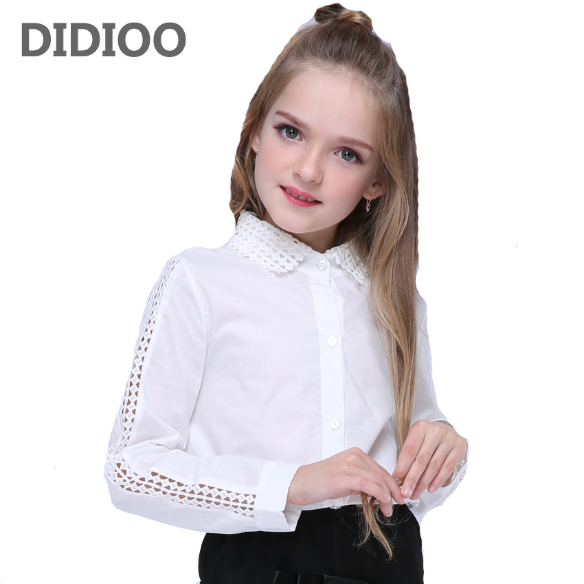Children Lace Blouses For Girls Kids Tops Cotton White Shirts For School Children Clothing 2 4 6 8 10 12 Years Students ClothesChildren Lace Blouses For Girls Kids Tops Cotton White Shirts For School Children Clothing 2 4 6 8 10 12 Years Students Clothes