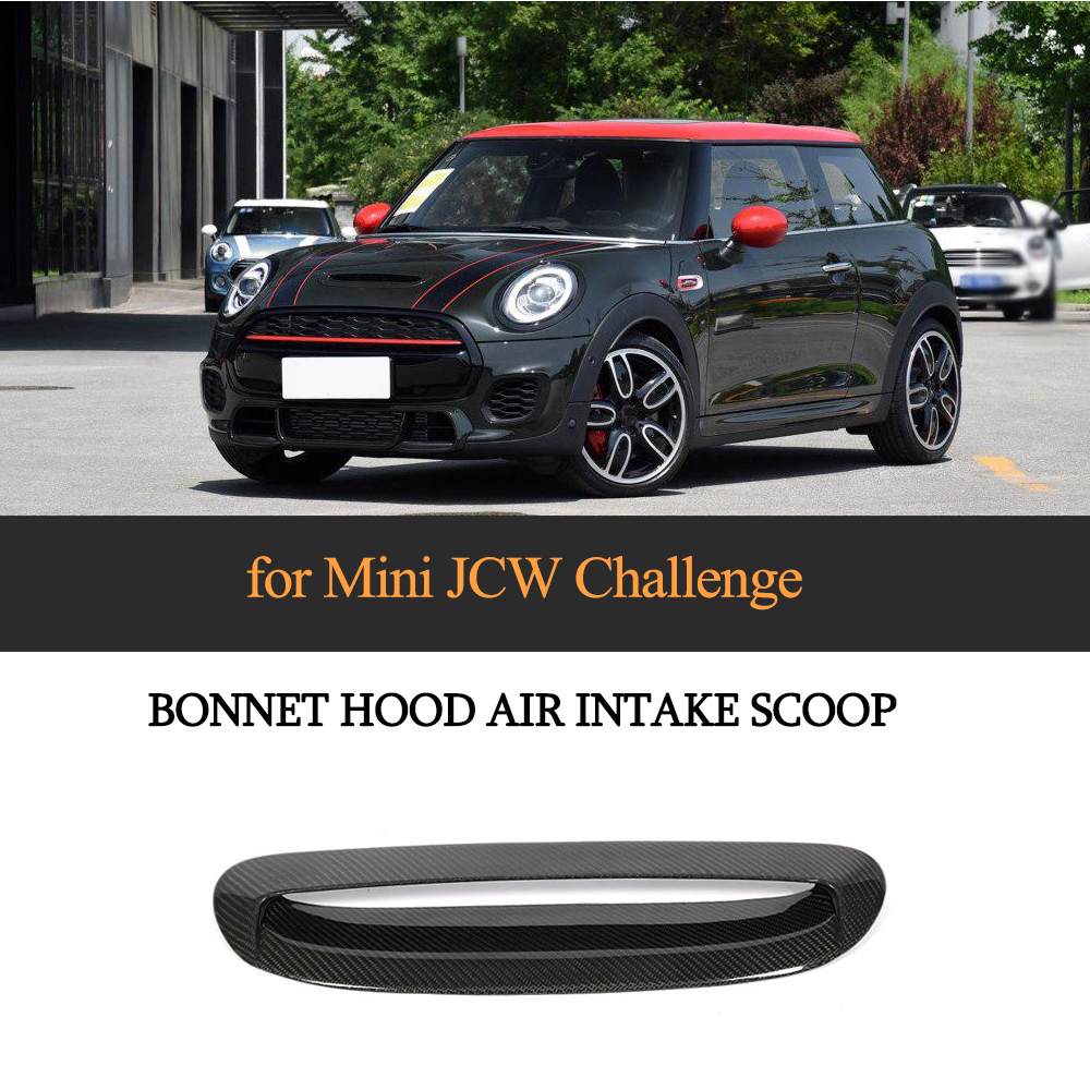 Carbon Fiber Hood Bonnet Air Vents Front Grill for MINI JCW 2014 2018 Add on Stye