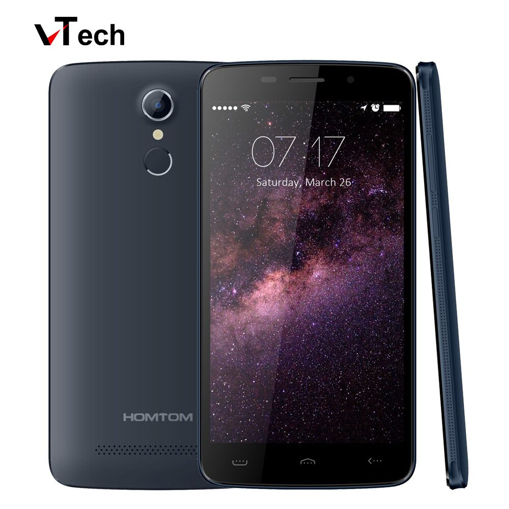 Free Gift HOMTOM HT17 8GB Touch ID LTE 4G 5 5 Android 6 0 MT6737 QuadCore