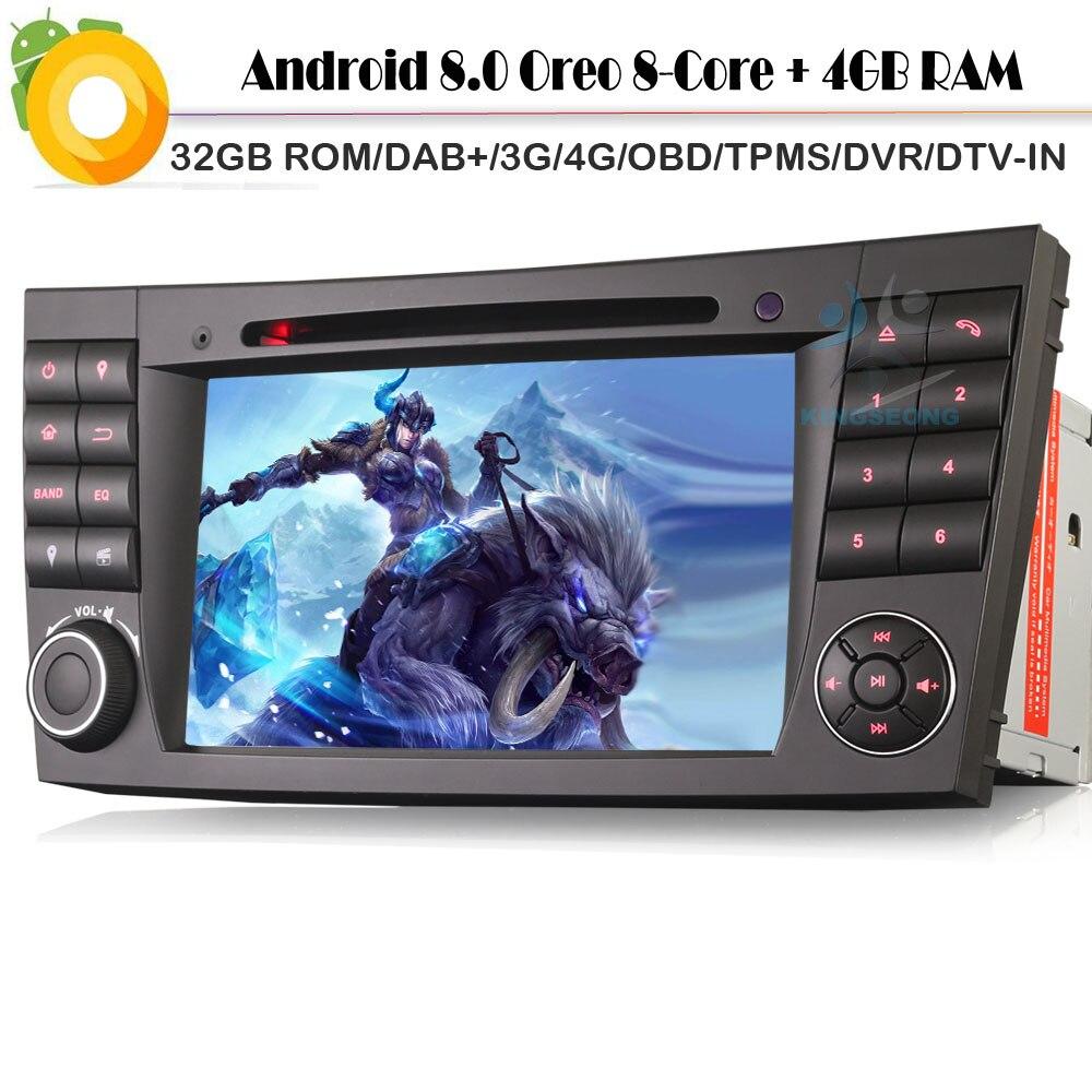Android 8.0 Autoradio Octa Core Sat Navi DAB+ WiFi 4G DVD SD BT Car GPS Navigation for Mercedes Benz CLS/E/G-Klasse W219 W211