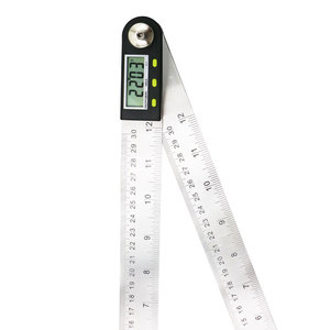 Image 3 - shahe Electronic Goniometer Digital Protractor Angle Finder Stainless Steel Ruler 300 mm Angle Gauge Measuring Tool