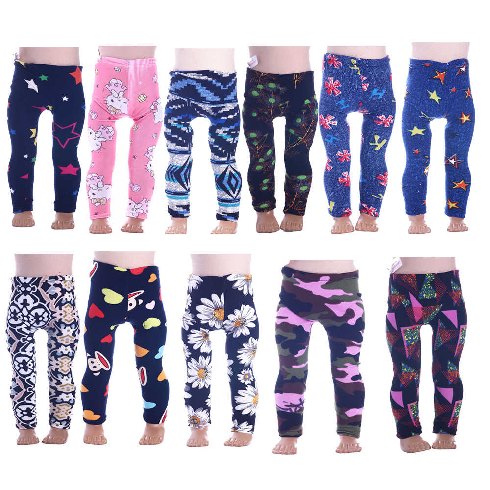 11 Styles Handmade Doll Leggings Tight Pants Fit 18 Inch American Doll & 43 Cm Baby Doll Clothes For Our Generation Girl`s Toy