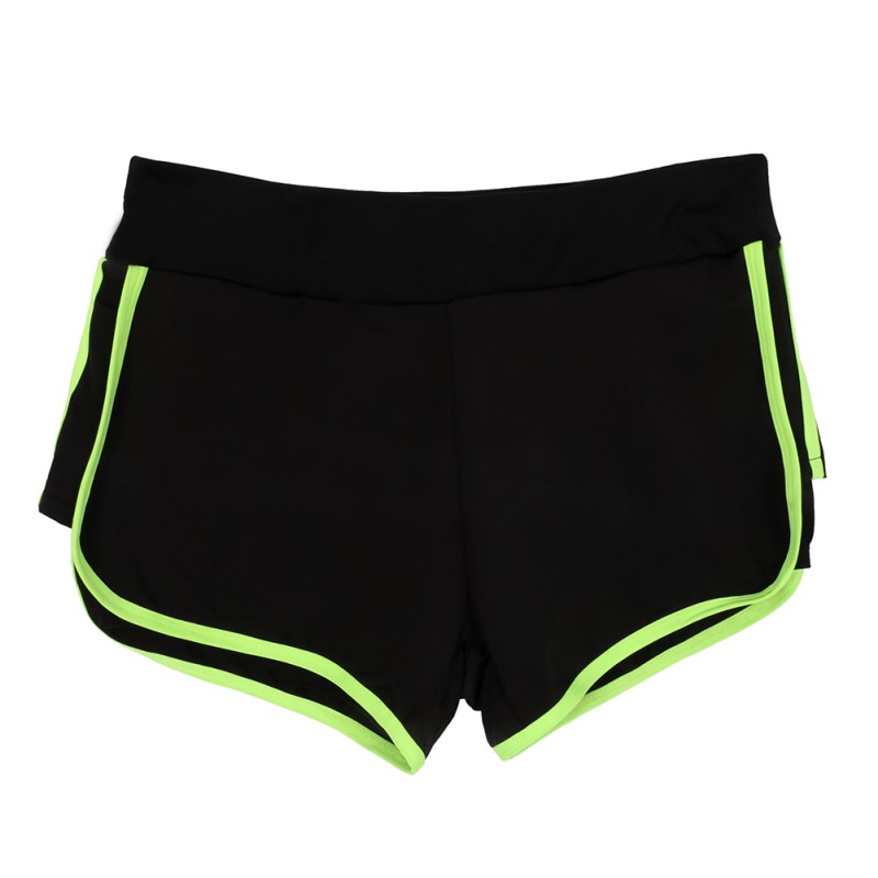 Women Girls Solid Color Patchwork Hot Running Shorts Gym Beach Sports Yoga Shorts M/L/XL/XXL