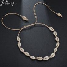 Jisensp, натуральное летнее пляжное колье, ожерелье, простое богемное ожерелье из ракушек, ювелирное изделие для женщин, девушек, подарок на день рождения