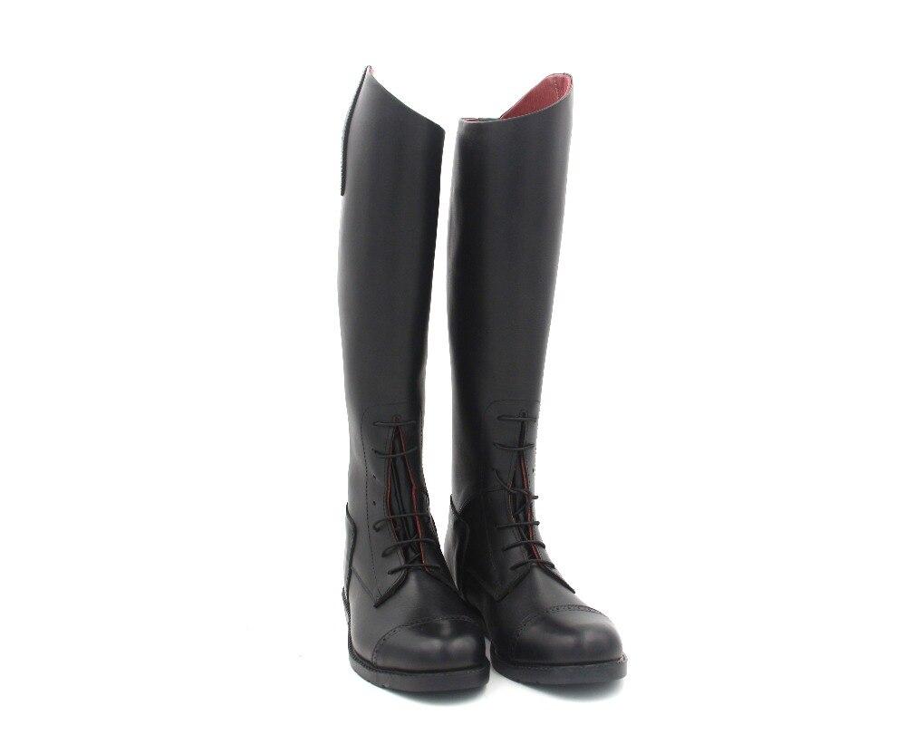 Aoud Обувь для верховой езды полная кожа с кожаной стелькой выездке сапоги казаки унисекс Индивидуальные Оборудование для верховой езды