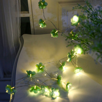 3M Green Camellia LED String Fairy Holiday LIGHTs Gerlyanda CHRISTMAS Lights Outdoor Garland PARTY WEDDING Decorations