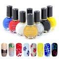 8 Botellas/LOT Nuevo esmalte de Uñas/sello polaco precio Al Por Mayor 12 colores Opcionales 10 ml Para Kand Estampar Nail Art barniz Na4008-08