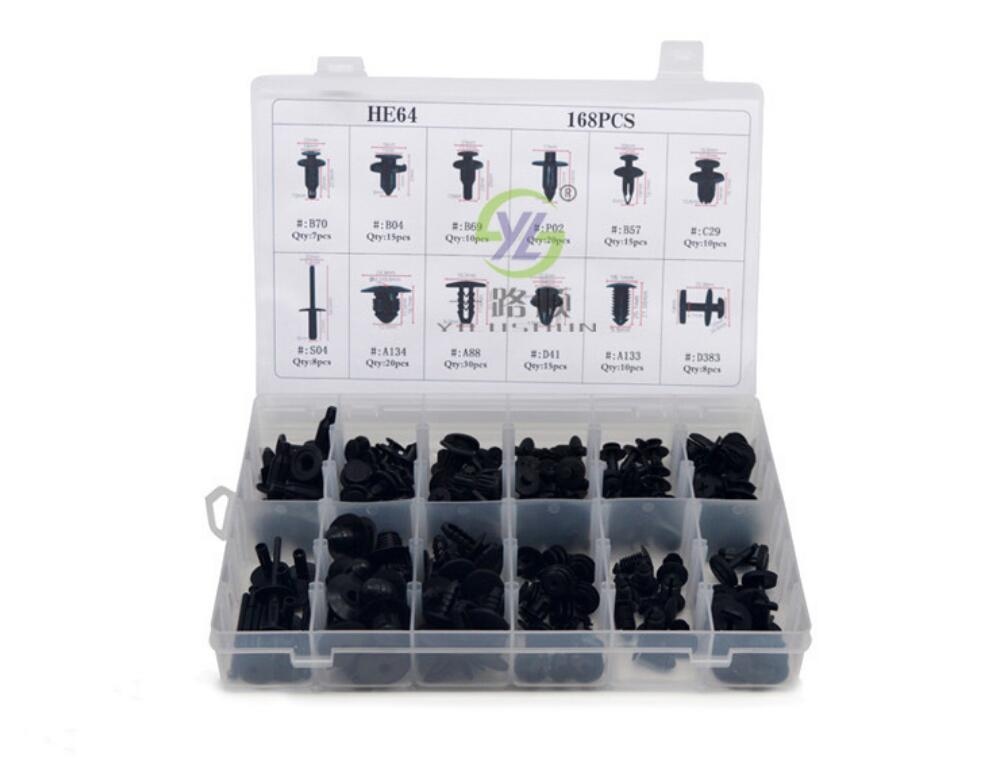 168pcs For Volkswagen Toyota Honda BMW Ford Motor Nylon Clips 12 Mixed Packing Buckles HE64