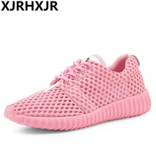 2017 Hot Sale Summer Lightweight Breathable Mesh Women Fashion Casual Shoes Lace Up Flats Zapatillas Deportivas
