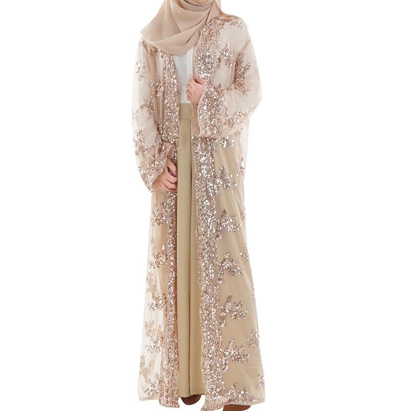 Babalet femmes musulmanes Sequin brodé Robe islamique arabe haut de gamme Cardigan lâche mince Robe nouvelle Robe de dubaï Robe de luxe