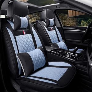 Image 3 - Leinen auto sitz deckt den gesamten sommer kissen paket die neue vier jahreszeiten universal auto sitz abdeckung tuch sitzt set spezielle cush