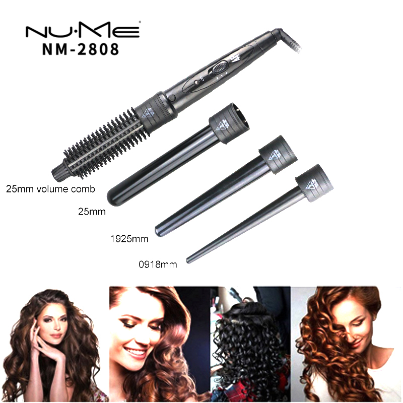 professional hair curler ceramic curling iron LED hair straightener brush interchangeable curling wand salon hair styling tools led display hair straightener curler ceramic curling flat iron hair wand straightening brush professional styling tool