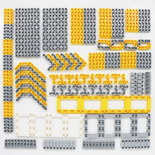 206pcs ტექნიკის ნაწილები Blocks Liftarm Model Building Brick Set Car Wholesale Wholesale Bulk Toys თავსებადი LegoINGlys Technic Studless Beam
