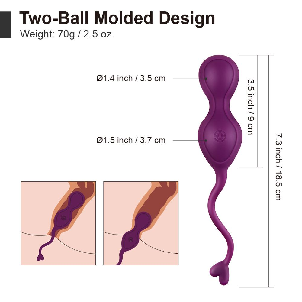 Luvkis Wireless Vibrator Remote Control Kegel Ball Vibrat Love Egg USB Charge Waterproof Sex Toy for