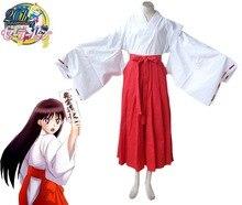 Envío Libre Sailor Moon Sailor Mars Rei Hino Cristal Psíquico Del Kimono Uniforme de Cosplay del Anime