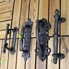 European retro garden courtyard cast iron craft door handles home decoration wall handle room accessories
