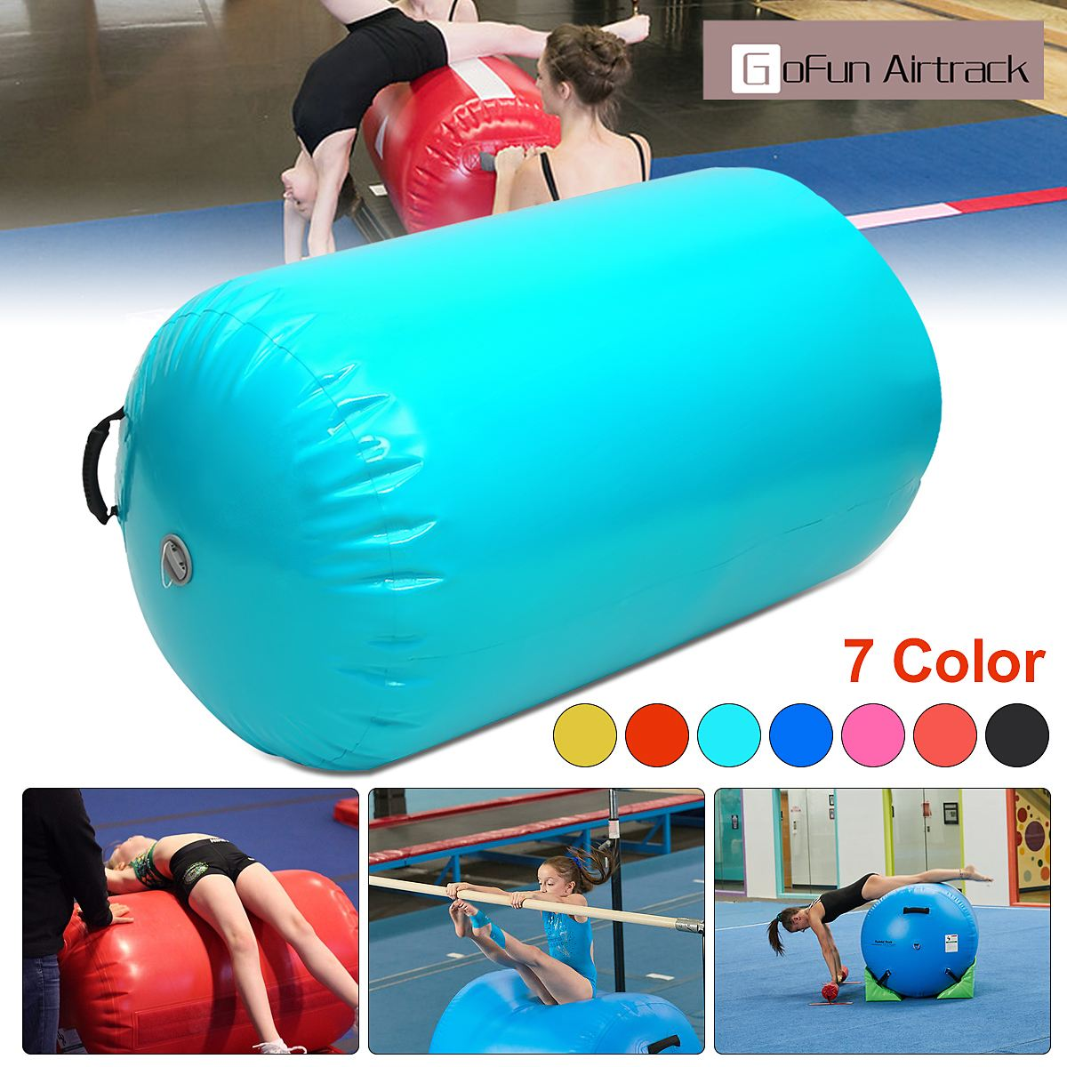 Она AirTrack цилиндр воздуха акробатика трек гимнастические Колонка надувные тренажерный зал перевернутый Backflip обучения детей безопасный ...