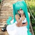 Женская Голубой Парик Hatsune Мику Парики С Челкой Короткие Прямые Волосы Косплей Прямые Волосы