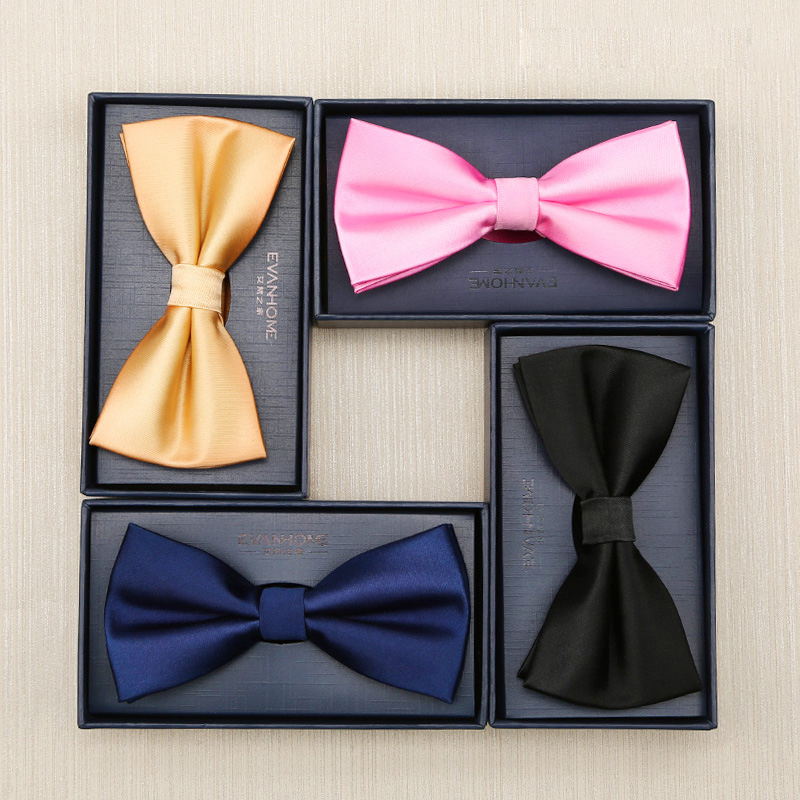 22f30bf751aa High Quality 2017 Fashion Groom Wedding Bowtie Men's Solid Color Bow ...
