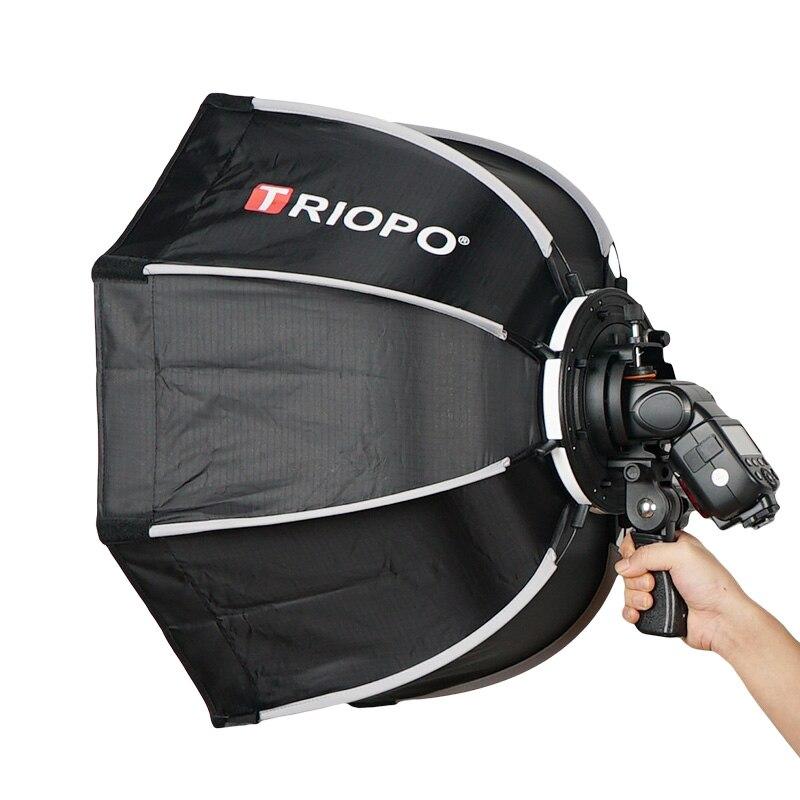TRIOPO 55cm portátil al aire libre Octagon Softbox paraguas para Godox V860II TT600 TT685 YN560 III IV TR-988 Flash Speedlite caja suave - 3